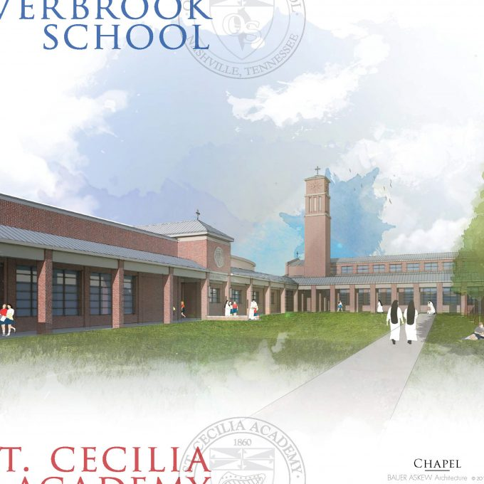 master plan, overbrook, school, nashville, tennessee, architecture, design, chapel, watercolor