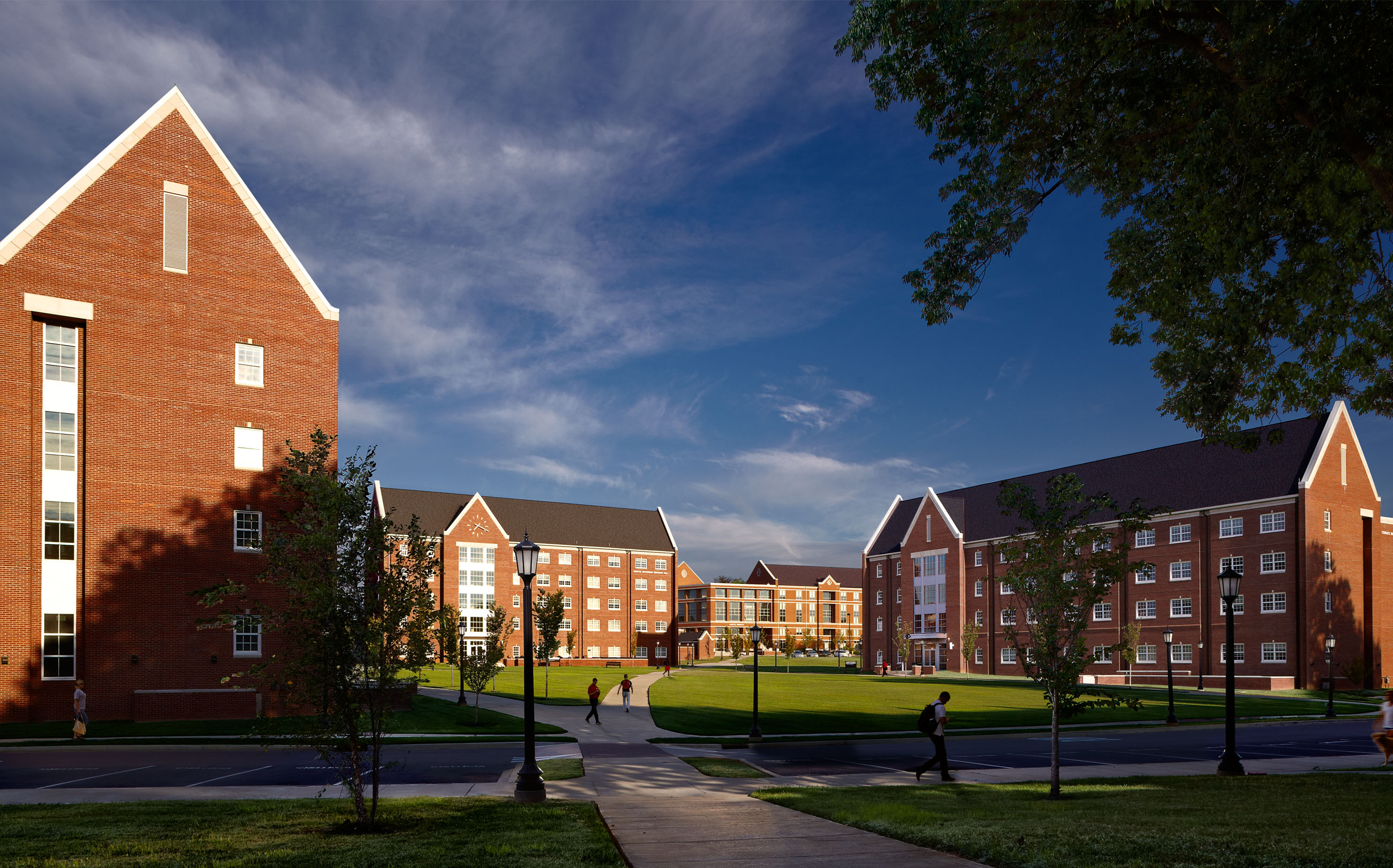 Student Housing, Austin Peay State University, APSU, Clarksville, TN, Tennessee, architecture, design, higher education, new construction, exterior photos