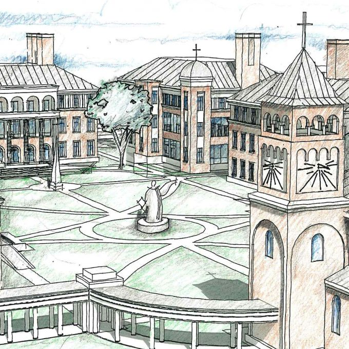 Aquinas College, Nashville, TN, Tennessee, architecture, design, planning, new construction, drawings, models