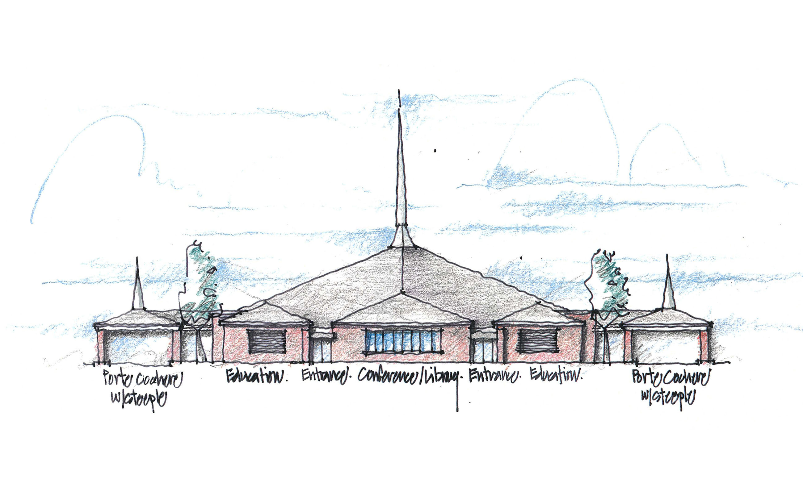 Cason Lane Church of Christ, Murfreesboro, TN, Tennessee, architecture, design, concept, worship, religious, new renovation, drawings, models,