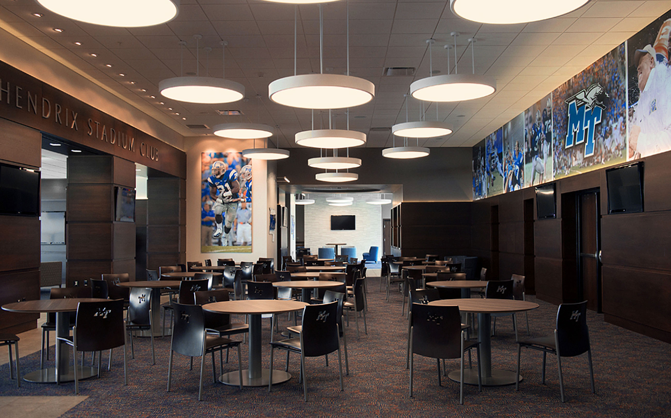 JHS Club at Middle Tennessee State University, MTSU, Murfreesboro, TN, Tennessee, architecture, design, renovation, exterior photos, interior photos