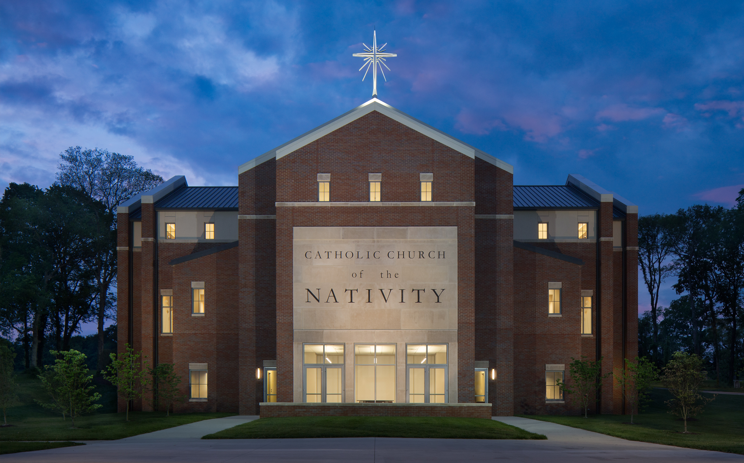 Catholic Church of the Nativity, Church of the Nativity, Nashville, TN, Tennessee, architecture, design, religious, new construction, exterior, interior
