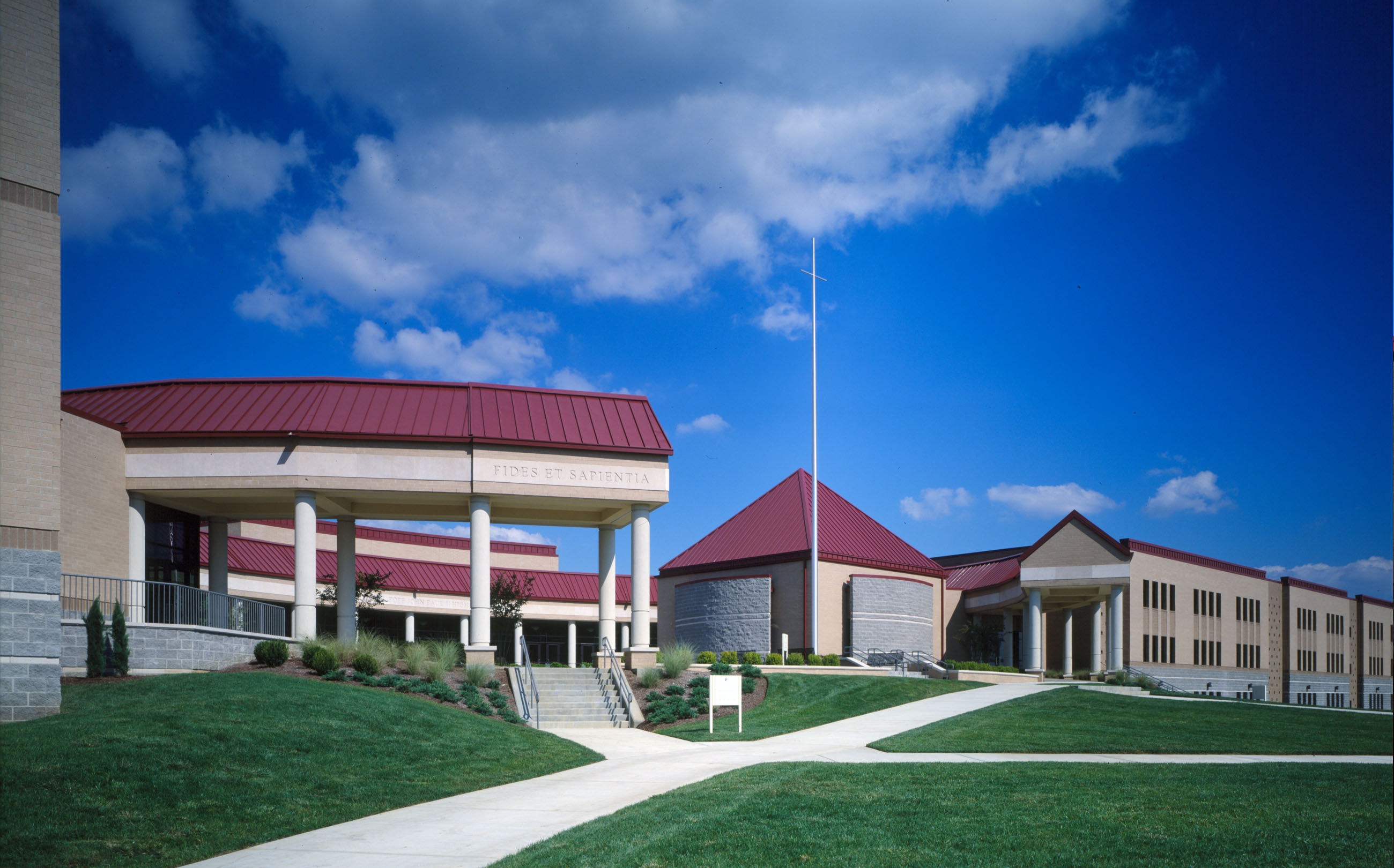 Pope John Paul II High School, Hendersonville, TN, Tennessee, architecture, design, new construction, exterior photos, interior photos