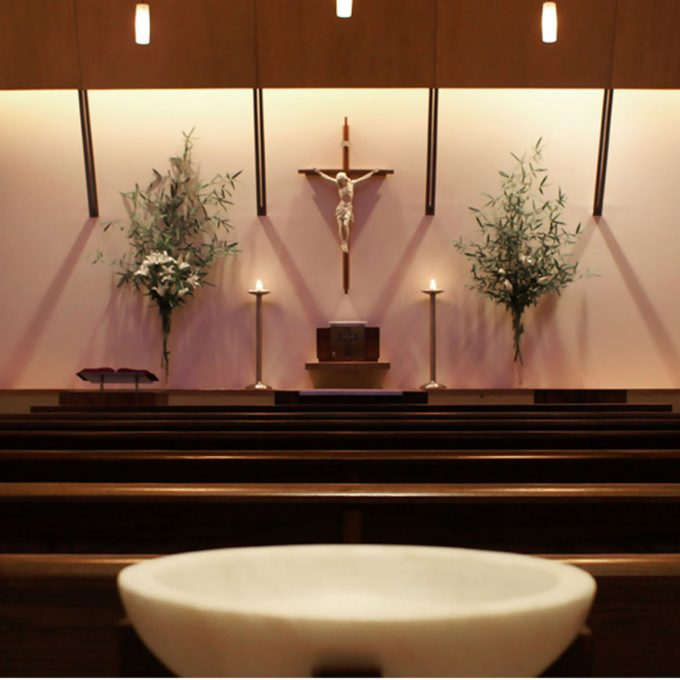 Catherine McAuley Chapel at St. Bernard Academy, Nashville, TN, Tennessee, architecture, design, worship, education, new construction, interior photos