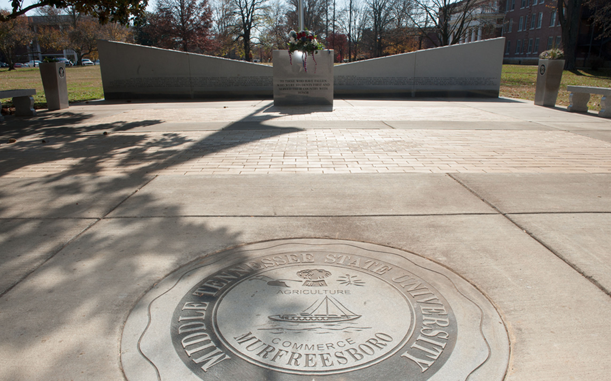 Veteran's Memorial, MTSU, Middle Tennessee State University, Murfreesboro, TN, architecture, design, memorial, higher education, new construction, exterior photos